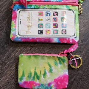 Cellphone holder/wristlet  and id holder